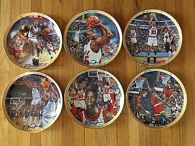 Michael Jordan Collector Plates- Michael Jordan Collection W/coa