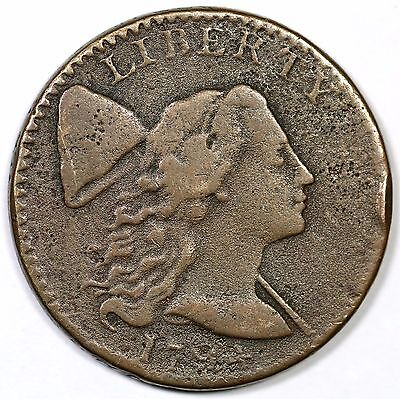 """1794 S-36 R-5 Low Head """"Single Berry Left of Bow"""" Liberty Cap Large Cent Coin 1c"""