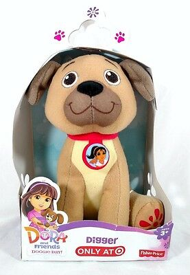 NEW Dora And Friends Doggie Day Digger Plush 6 inch Brown Puppy FREE SHIPPING