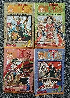 One Piece Manga Volumes 1-4 Eichiro Oda