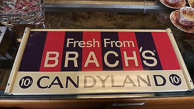 Brachs Candyland 10 cent metal sign - Original candy store display advertising