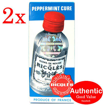 2X France Ricqles Peppermint Cure Medicated Oil - (New!)