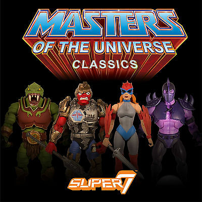 4er SET Collector's Choice 2017 MOTU CLASSICS Masters the Universe He Man Super7