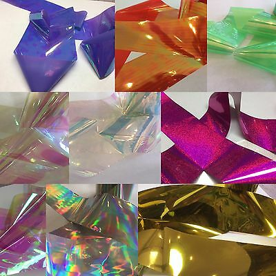 Nail Art/holographic broken glass angel paper various colours meter length