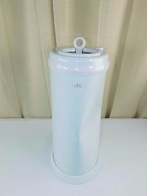 Ubbi Steel Diaper Pail - White ( Never Used - Large Dent )