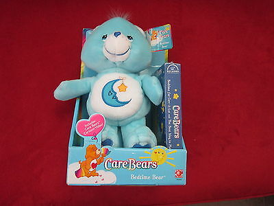 NEW - Care Bears - Bedtime Bear plush with VHS Tape 2002
