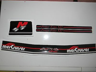 Mercruiser Alpha One Gen Ii Decal Set With Red Trims