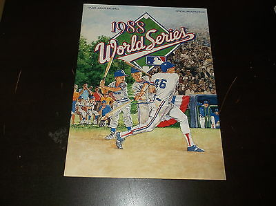 1988 World Series Baseball Program Los Angeles Dodgers Vs Oakland A's Gibson