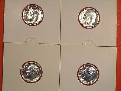 ROOSEVELT DIMES Lot of 4 SILVER PROOFS * D3 * 1961, 1962, 1963 & 1964