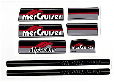 Mercruiser Alpha One Gray Gen I Decal Set With Gray Trims