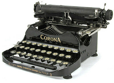 Rare 1912 Corona Portable Folding Typewriter #3 w/ Case Very Good Working Cond.