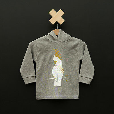 BNWT Liberty Kids Unisex Gold Cockatoo Hoodie (000,00,0)