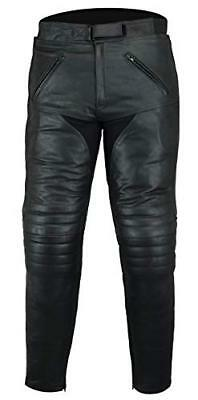 Motorcycle Sturgis Touring Leather Jeans Trousers CE Armoured (d3j)