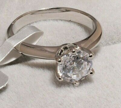 1.5 CT ROUND CUT DIAMOND SOLITAIRE ENGAGEMENT RING 14K WHITE GOLD Finish 9