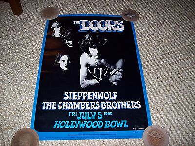 The Doors Steppenwolf Chamber Brothers Concert Poster Hollywood Bowl 1968