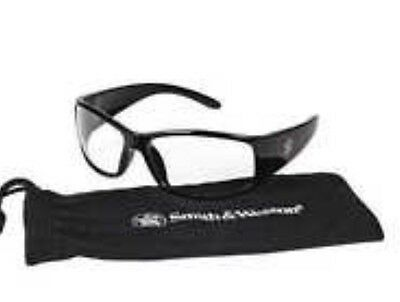 SMITH & WESSON Elite 21302 Black Safety Glasses Clear Anti-Fog Lens 3016312