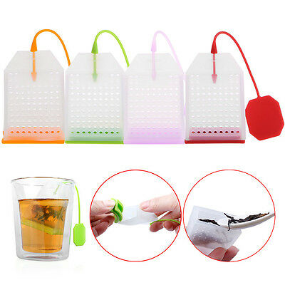 Bag Shape Silicone Loose Tea Leaf Strainer Filter Herbal Spice Infuser Diffuser