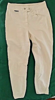 EUROSTAR Mens White Riding Breeches-Size 34R-Reinforced knees & Rear-Germany