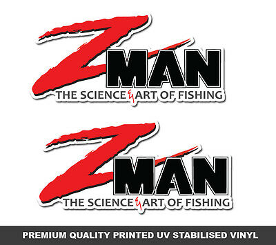 Z Man Lures Stickers x 2 ZMAN Fishing Decals marine tackle swim bait graphics