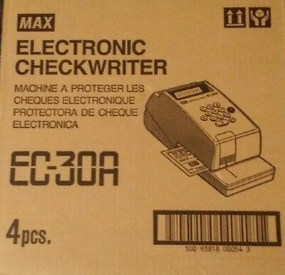 Check Writers Max EC-30A Max Model EC-30A Electronic Checkwriter, 10-Digit, x x