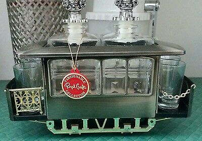 Kitsch Retro 60s Tram Car Whisky Whiskey decanter for Bar