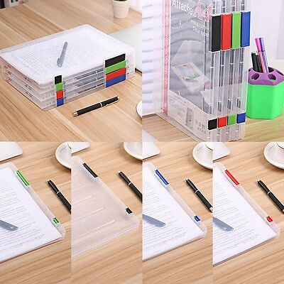 A4 Files Plastic Document Case Storage Box Holder Paper Office School Organizer