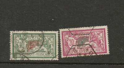 1920 FRANCE 10f + 20f USED STAMPS CV £63