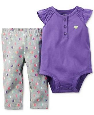 NWT Carter's Baby Girl 2 Piece Spring / Summer Top & Pants Set Size 6 Months