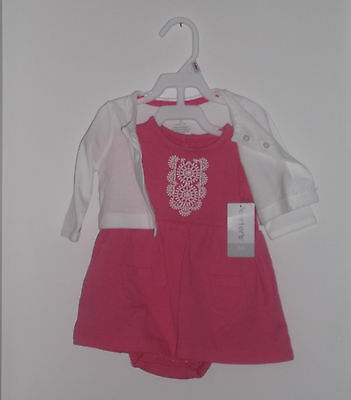 NWT Carter's  Girl 2 Piece Spring / Summer Dress & Cardigan Set Size 3 Months