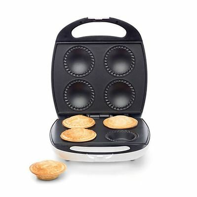 4 Pie Maker Pasty Traditional Snack Machine Non Stick Plate Meat Pies Brand New