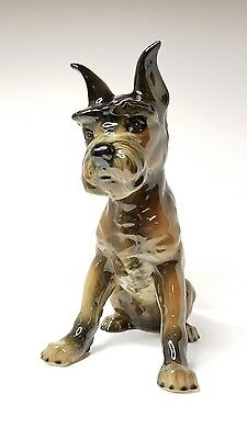 SCHNAUZER DOG Large Goebel BEAUTIFUL Figurine West Germany