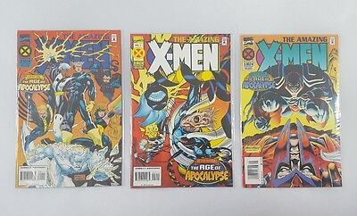 The Amazing X-Men #1, 2, 3 Age of Apocalypse LOT of 3 Marvel Comics VF/NM