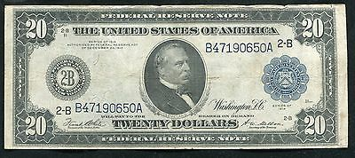 FR. 971a 1914 $20 TWENTY DOLLARS FRN FEDERAL RESERVE NOTE NEW YORK, NY VF+