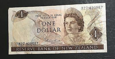 1967 (Nd) Reserve Bank Of New Zealand One Dollar Banknote