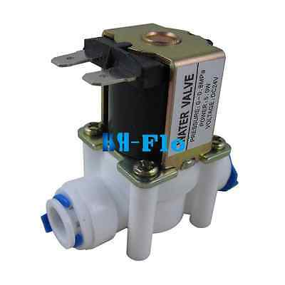 """24V 3/8"""" Inlet Feed Water Solenoid Valve Quick Connect for RO Reverse Osmosis"""