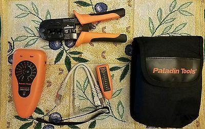 Paladin Tools Data / Link ID Cable  1576 & Crimper we/ss mod  plugs.