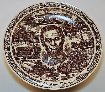 1960s Abraham Lincoln's Earthy Pilgrimage plate-Springfield,Ill.Myers Bros.Store