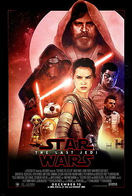 """014 Star Wars The Last Jedi - Daisy Ridley Action USA 2017 Movie 24""""x35"""" Poster"""