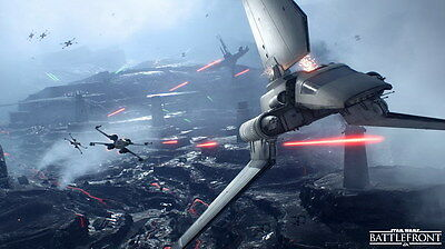 """028 Star Wars Battlefront II - Action Fight Game 42""""x24"""" Poster"""