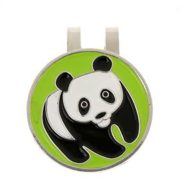 Metal Panda Magnetic Golf Ball Marker with Hat Clip Golf Accessory Gift