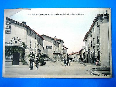 Cpa  Saint Georges De Reneins-Rue Nationale-Animee