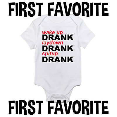 Drank Baby Onesie Bodysuit Shirt Shower Gift Funny Cute Infant Unisex Gerber