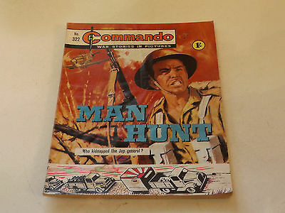 Commando War Comic Number 322!,1968 Issue,good For Age,49 Years Old,very Rare