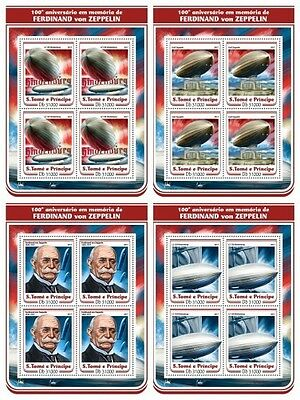 Z08 IMPERF ST17210c Sao Tome and Principe 2017 Ferdinand of Zeppelin MNH Pos