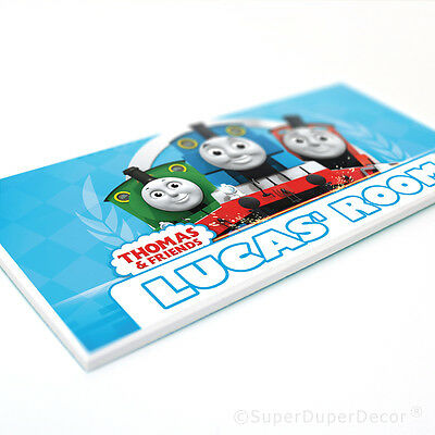 THOMAS THE TANK ENGINE DOOR PLAQUE - personalised bedroom name sign kids boys