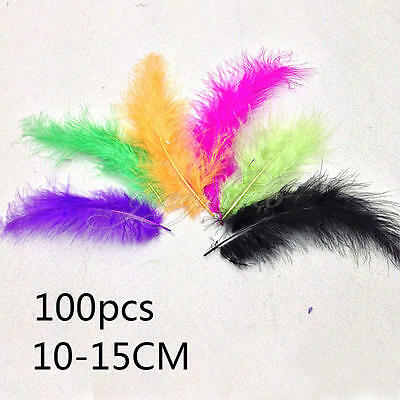 4-6'' 100PCs Rooster Tail Feathers Bridal Wedding Crafts Millinery Cloth Decor