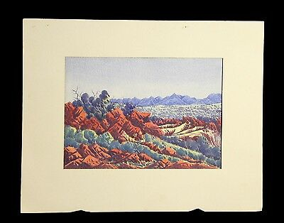 Enos Namatjira (1920-1966) EARLY ABORIGINAL  WORK IN EXCELLENT CONDITION