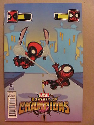Contest of Champions #1 Marvel 2015 Skottie Young Deadpool Variant 9.6 NM+