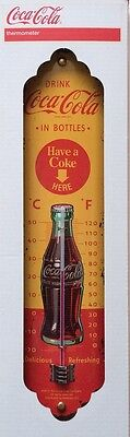 THERMOMETER - Coca Cola - IN BOTTLES YELLOW