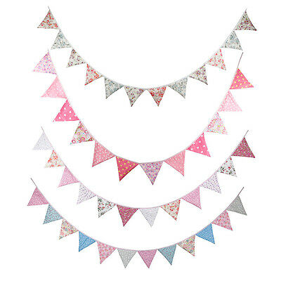 Vintage Village Triangle Flag Pennant String Bunting Banner Festival Party Decor